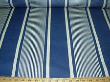"~11 YDS~RALPH LAUREN~""ATLANTIC STRIPE"" COTTON LINEN UPHOLSTERY FABRIC FOR LESS~"