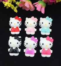 6pcs Cute Resin HELLO KITTY Mix Bow flatback Scrapbooking For phone /craft DIY