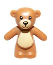 LEGO NEW Friends TEDDY BEAR Toy Animal Light Brown Medium Dark Flesh Minifigure
