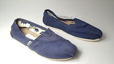 size 6 Toms Classic Navy Sneakers Slip On Flats Womens Shoes