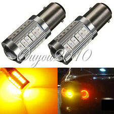 2x 1157 5630 33-SMD LED Yellow/Amber Turn Signal Brake Tail Light Bulb Lamp 12V