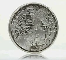 Headless Horseman 2 oz .999 Silver Coin Antiqued Sleepy Hollow, NY Ghost Horse
