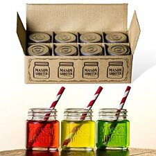 Hayley Cherie ® - Mason Jar Shot Glasses with Lids (Set of 8) - Mini Mason Sh...
