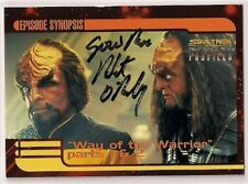Star Trek Signed Card Auto DS9 Profiles Gowron Robert O'Reilly v38