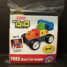 New Fisher Price TRIO Bricks, Sticks and Panels Race Car Kit (Order 2+ Discount)
