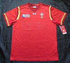 WALES RUGBY WORD CUP 2015 UNION shirt Jersey UNDER ARMOUR CYMRU red men/ SIZE XL