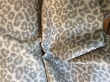 GREY TAUPE IVORY CHEETAH  ANIMAL PRINT OUTDOOR UPHOLSTERY FABRIC