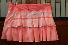 Lululemon Pace Setter Orange Neon Skort Shorts Skirt 6 Reg S M