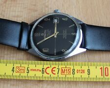 Atlantic Worldmaster black dial 21j Unitas 6300 vintage watch date indicator