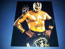 """REY MYSTERIO PP SIGNED 10""""X8"""" PHOTO REPRO TNA WWE WRESTLING"""