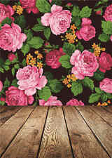 Vinyl Background for Baby Photo Studio Child Flowers Photography Backdrop 5x7FT