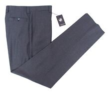 Mens SARTORE Gray Tweed Reda Super 130's Wool Flat Front Dress Pants 36 NWT $325