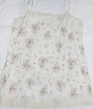 Evie beige cream floral cotton camisole strappy vest top Size 16 vgc
