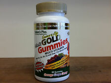 Nature's Plus Source of Life  Adult Gold Gummies  Multi-Vitamin 60