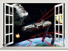 Star Wars Millennium Falcon 3D Window Wall Decals Removable Stickers Kids Decor