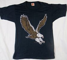 RARE FLYING EAGLE Vintage T-Shirt 1983 Biker Texas Tee Co Super Soft 80s Small