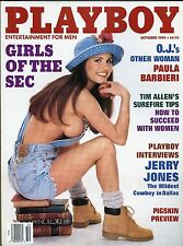 Playboy Magazine October 1994 Jerry Jones Interview / Girls Of The Sec