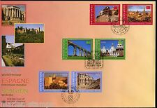 UNITED NATIONS SPECTACULAR  HOLDING 2000 SPAIN  WORLD HERITAGE 16 FDCS & 4 CARDS
