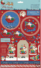 Docrafts A4 decoupage Jolly Santa Christmas decoupage sheets toppers & papers