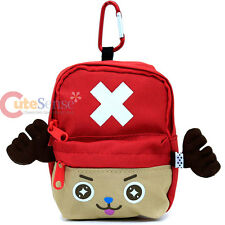 One Piece Chopper Mini Backpack Pouch Bag Key Chain Coin Wallet - Red