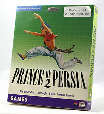 Vintage Broderbund Prince of Persia 2 - SmartSaver MAC/PC CD - Big Box SEALED