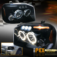 For 2001-2004 Nissan Frontier [Smoked Black] Projector Halo LED Headlights