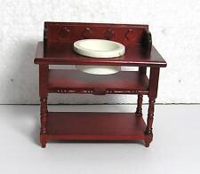 Dolls House  1:12  Furniture Mahogany Colour Wash Stand  new