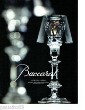 PUBLICITE ADVERTISING 1016  2012  Baccarat  bougeoir  coll maison  Ph. Starck
