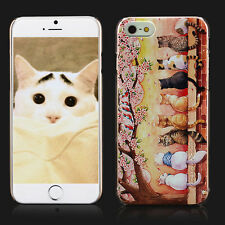 Iphone 6 Case for Girls&Women, Cute Fat Ass Cats with Relief Texture Cover Skin