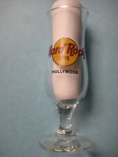 HOLLYWOOD ,Hard Rock Cafe,Hurricane Shot Glass,New,Black Circle,Black Letters