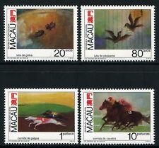 MACAU MACAO 1990 Tierwettkämpfe Pferde Hunde Vögel Grillen 663-66 ** MNH