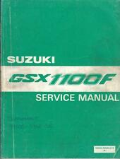 SUZUKI GSX1100 F FACTORY WORKSHOP MANUAL 1988 PART NO.99500-39080-01E