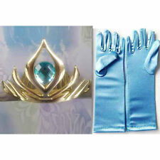 Frozen Snow Queen Elsa Princess Crown Gloves
