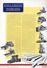 Maschinenfabrik Waldrich XL Reklame 1956 Historie Werbung Hobelmaschine fräsen