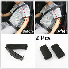 2 Pcs Smart Seatbelt Adjuster Clip Buckle Shoulder Relax Neck Comfort Supports