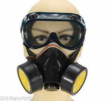 Emergency Survival Safety Respiratory Gas Mask &  Dual Protection Filter&Glass *
