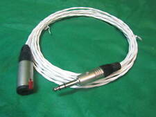 "8 Ft SILVER PLATED 6.35 MM 1/4"" SILVER AUDIOPHILE HEADPHONE EXTENSION CABLE."