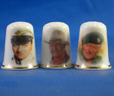Birchcroft Thimbles -- Set of Three -- John Wayne