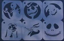 #1 NIGHTMARE BEFORE CHRISTMAS Set of 6pcs Stencils Jack Skellington Sally Zero