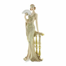 Juliana Art Deco Broadway Belles Cream /Gold Lady Figurine / Ornament.New.58429