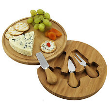 New Feta Round Cheese Board Tool Set Swivel Base Tool Drawer By Picnic at Ascot