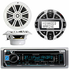 "Kenwood Bluetooth CD Player W/ Wired LCD Remote, Pair of Kicker 6.5"" Speaker"