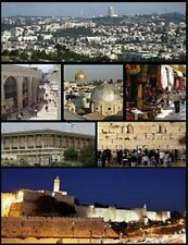 "*Postcard-""Mini-Pictures of Jerusalem, Israel"" ... (One Postcard) (B-201)"