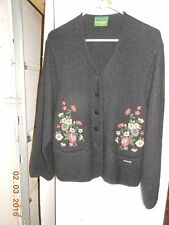 Geiger Jacket, black, boiled wool, Trachtenmode, flower pattern