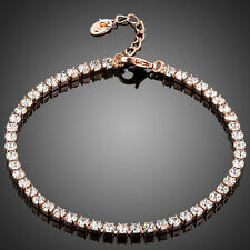 STUNNING ROSE GOLD PLATED BRACELET WITH C/Z 0032