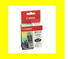 2 ORIG. CARTUCCIA CANON bci-21 color bjc-2000 4000 5000 Multi pass c20 c30 c50 c70