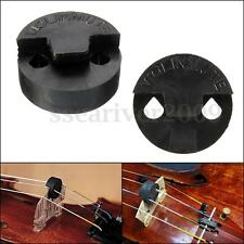 Acoustic Round Black Rubber Bridge Practice Mute Silencer For Violin Strings