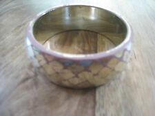 lilac and silver coloured vintage look wide bangle, shabby chic