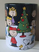 Snoopy Christmas Peanuts Insulated Can Holder Tin New