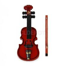 1/12 Dollhouse Wooden Violin Miniature Musical Instrument Doll House Decoration